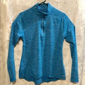 Champion Duo Dry Long Sleeve Turquoise Shirt